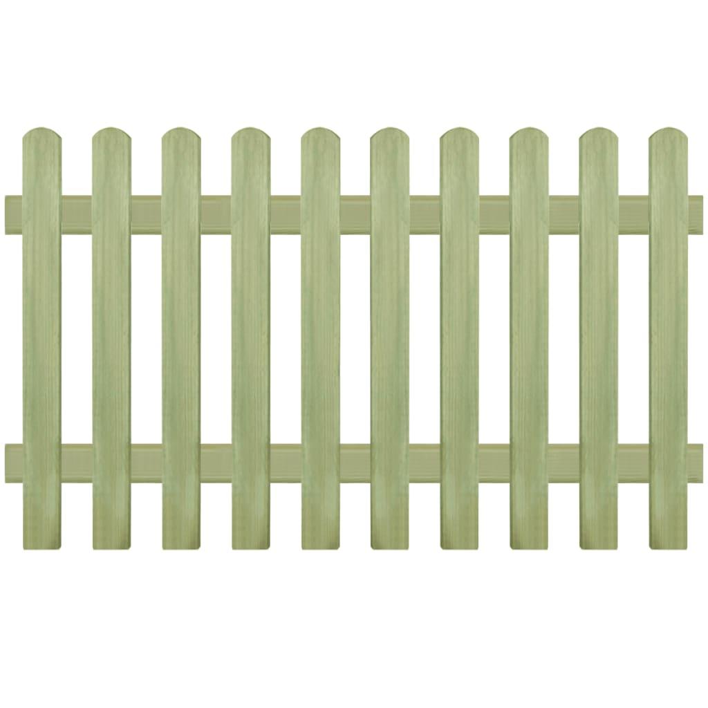 vidaXL Laťkový plot, impregnovaná borovice, 170x100 cm, 6/9 cm