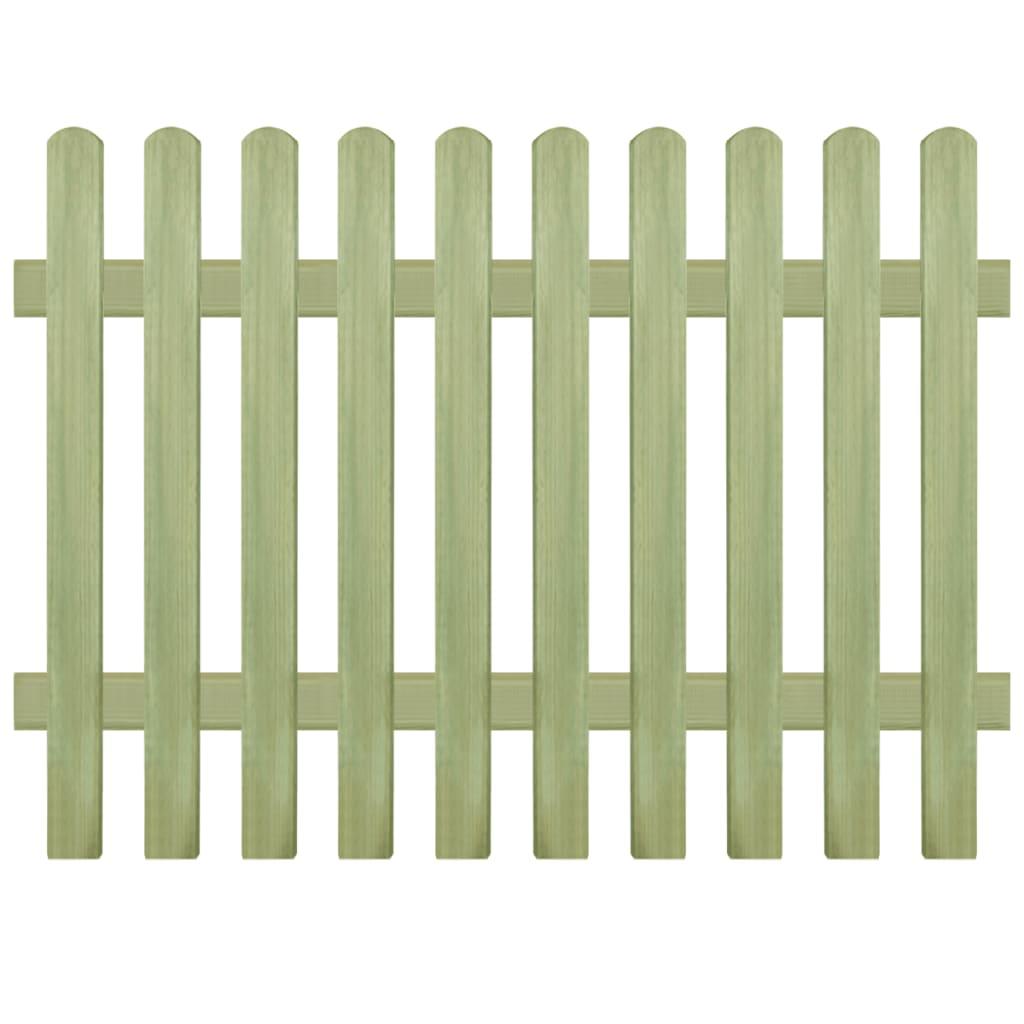 vidaXL Plot půlkulaté plotovky impregnovaná FSC borovice 170x120 6/9cm