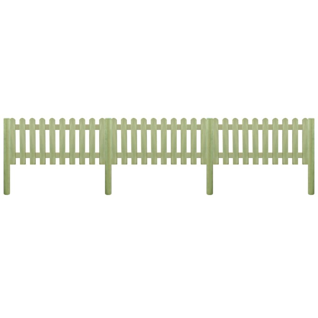 vidaXL Laťkový plot se sloupky impregnovaná borovice 5,1 m, 130 cm