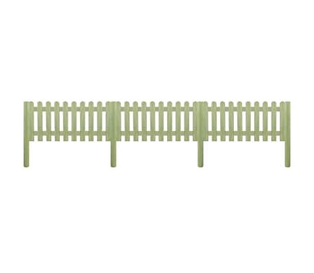vidaXL Latkový plot, impregnovaná borovica 5,1 m, 130 cm, 6/9 cm