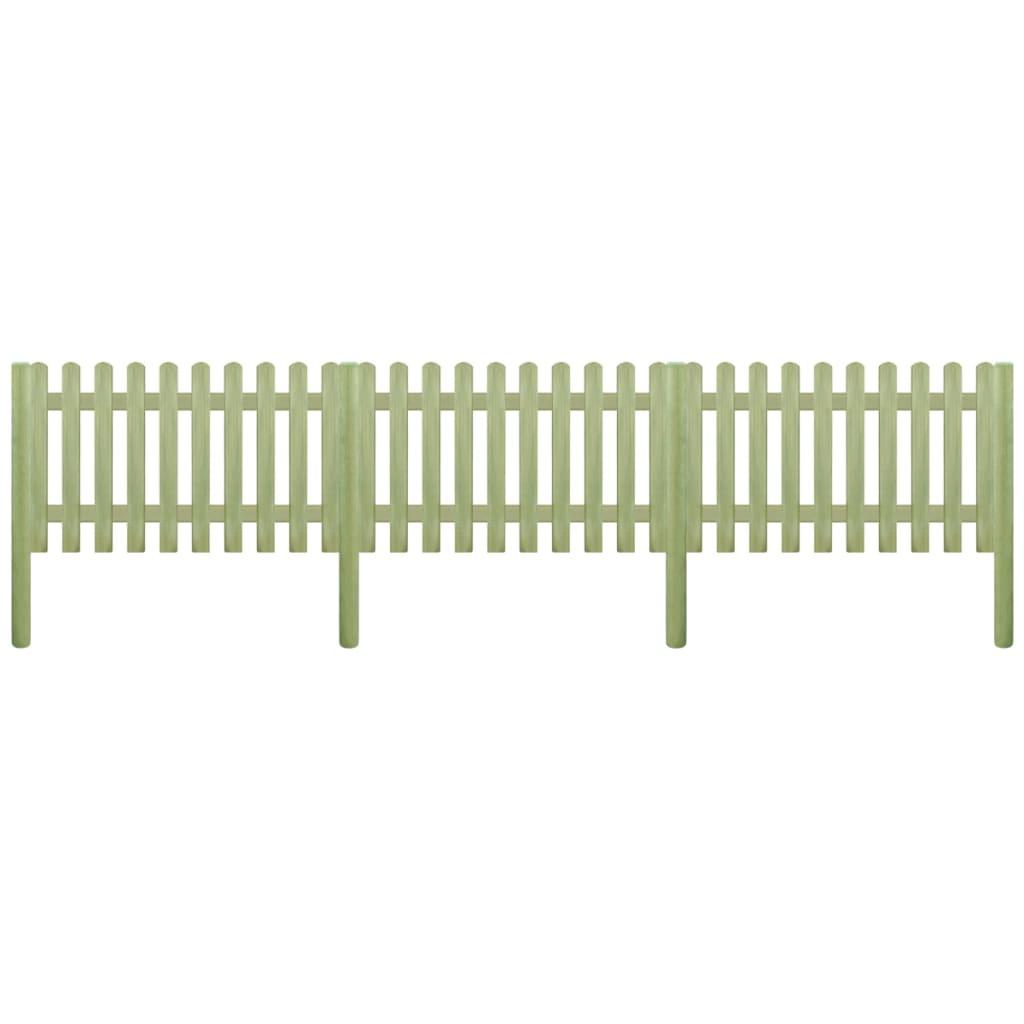 vidaXL Gard din scânduri 5,1 m 150 cm 6/9 cm lemn de pin tratat poza 2021 vidaXL