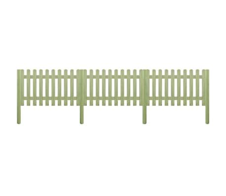 vidaXL stakit med stolper imprægneret fyrretræ 5,1 m 150 cm 6/9 cm