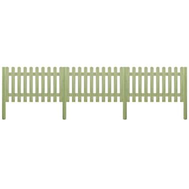 vidaXL Решетъчна ограда с колове, импрегниран бор 5,1 м 150 см 6/9 см[1/3]