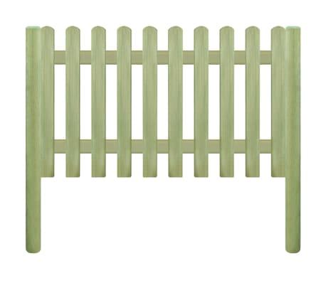 vidaXL Решетъчна ограда с колове, импрегниран бор 5,1 м 150 см 6/9 см[2/3]
