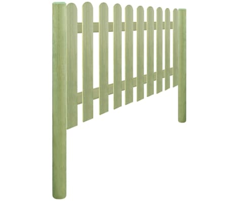 vidaXL Решетъчна ограда с колове, импрегниран бор 5,1 м 150 см 6/9 см[3/3]