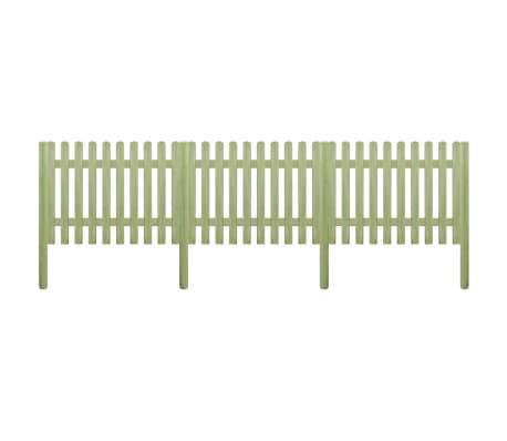 vidaXL Ograda od kolaca od impregnirane borovine 5,1 m 170 cm 6/9 cm