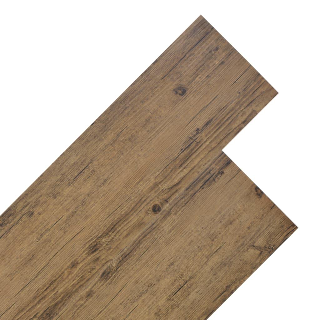 vidaXL Podlahová krytina PVC 5,26 m² 2 mm ořechově hnědá
