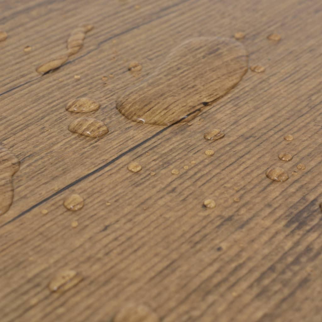 vidaXL Vloerplanken 5,26 m² 2 mm PVC walnoot bruin