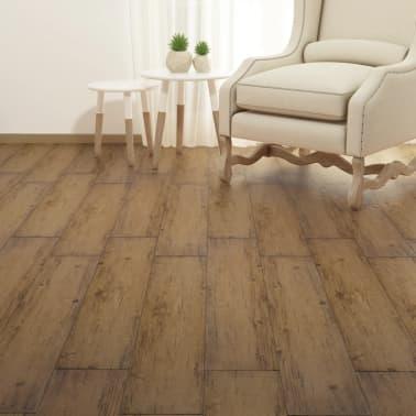 vidaXL PVC talne plošče 5,26 m² 2 mm orehovo rjave[4/8]