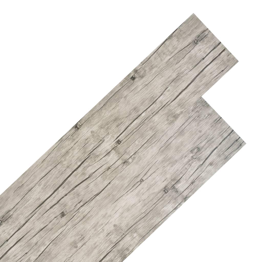 vidaXL Plăci de pardoseală, stejar decolorat, 5,26 m², 2 mm, PVC poza vidaxl.ro