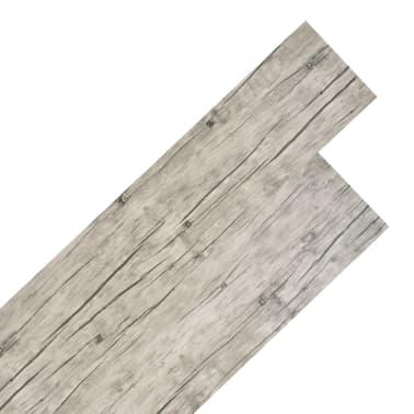 vidaXL Golvbrädor i PVC 5,26 m² ekfärgad[1/8]