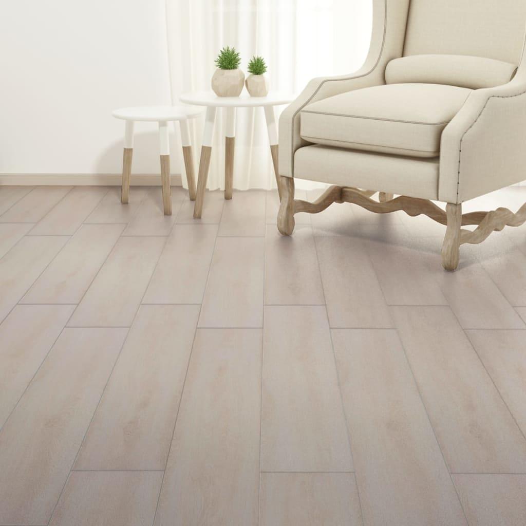 vidaXL Vloerplanken 5,26 m² 2 mm PVC klassiek wit eiken