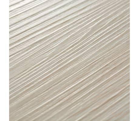 vidaXL Golvbrädor i PVC 5,26 m² ek klassisk vit[6/8]