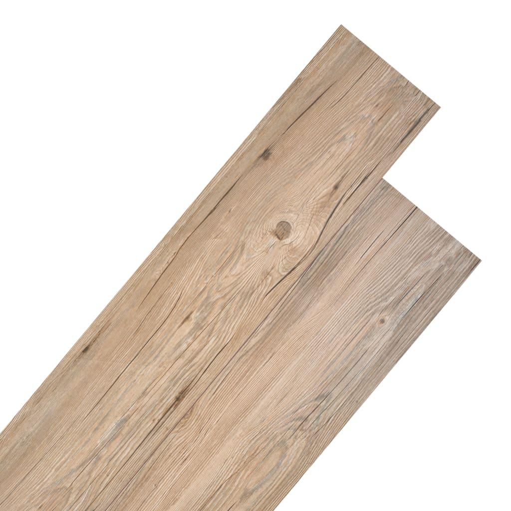 vidaXL Plăci de pardoseală, stejar maro, 5,26 m², 2 mm, PVC poza vidaxl.ro