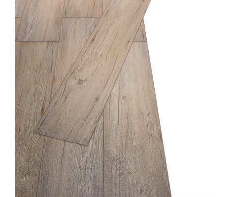 vidaXL Golvbrädor i PVC 5,26 m² brun ek[3/8]