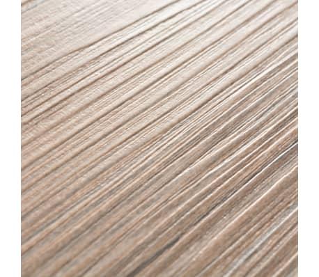 vidaXL Golvbrädor i PVC 5,26 m² brun ek[6/8]