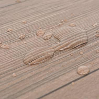 vidaXL Golvbrädor i PVC 5,26 m² brun ek[7/8]