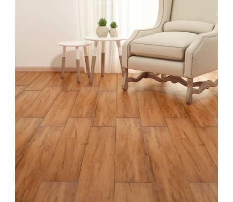 vidaXL PVC Grindų plokštės, 5,26m², 2 mm, natūrali guobos spalva[4/8]