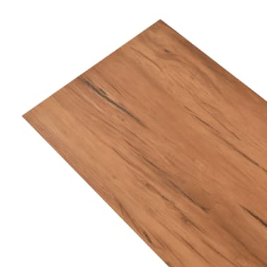 vidaXL PVC Grindų plokštės, 5,26m², 2 mm, natūrali guobos spalva[3/8]