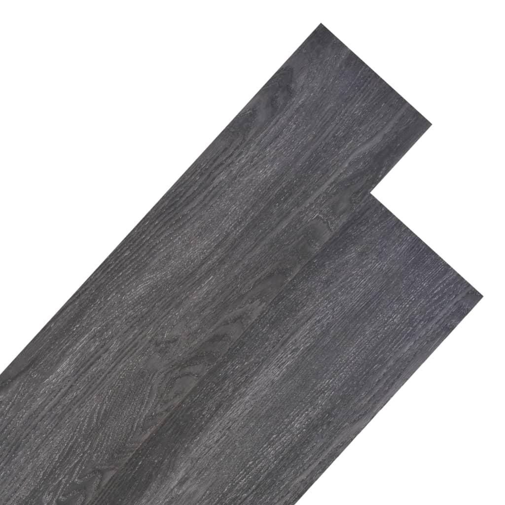 vidaXL Podlahová krytina PVC 5,26 m² 2 mm černobílá
