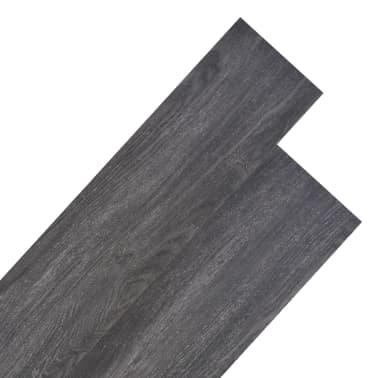 vidaXL Lama para suelo de PVC 5,26 m² 2 mm negro y blanco[1/8]