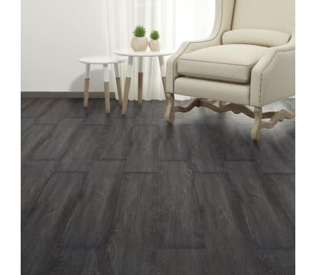 vidaXL Lama para suelo de PVC 5,26 m² 2 mm negro y blanco[4/8]