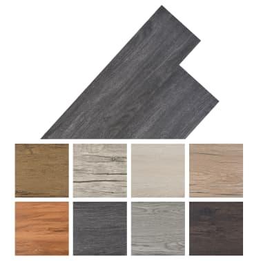 vidaXL Golvbrädor i PVC 5,26 m² svart och vit[8/8]