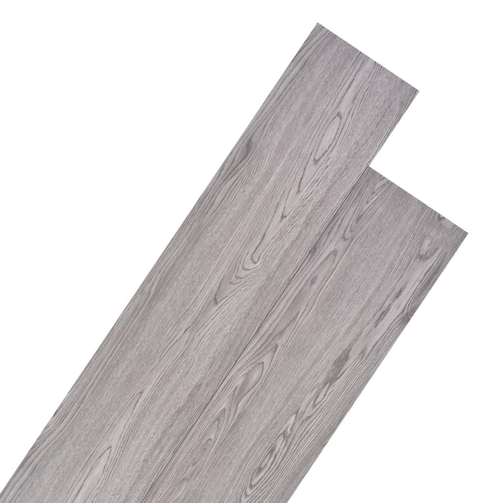 vidaXL Podlahová krytina PVC 5,26 m² 2 mm tmavě šedá