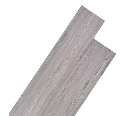 vidaXL PVC Grindų plokštės, 5,26m², 2 mm, tamsiai pilka