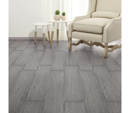 vidaXL PVC Grindų plokštės, 5,26m², 2 mm, tamsiai pilka[4/8]
