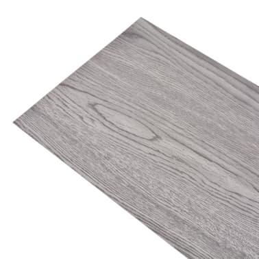 acheter vidaxl planche de plancher pvc 5 26 m gris fonc pas cher. Black Bedroom Furniture Sets. Home Design Ideas