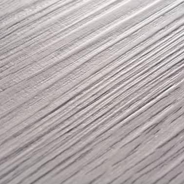 vidaXL PVC Grindų plokštės, 5,26m², 2 mm, tamsiai pilka[6/8]