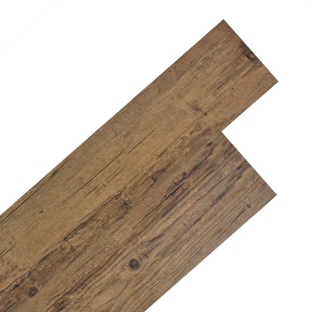 vidaXL Samolepící podlahová krytina PVC 5,02 m² 2 mm ořechově hnědá