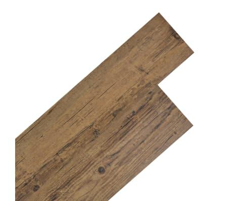 vidaXL Self-adhesive PVC Flooring Planks 54 ft² Walnut Brown[1/8]