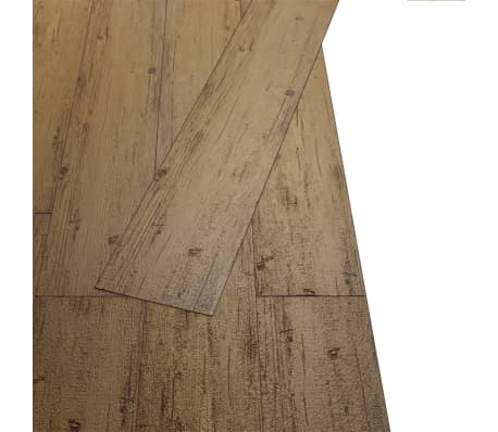 vidaXL Self-adhesive PVC Flooring Planks 54 ft² Walnut Brown[4/8]