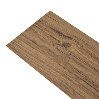 vidaXL Self-adhesive PVC Flooring Planks 54 ft² Walnut Brown[2/8]
