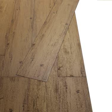 vidaXL Self-adhesive PVC Flooring Planks 54 ft² Walnut Brown[3/8]