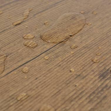 vidaXL Self-adhesive PVC Flooring Planks 54 ft² Walnut Brown[7/8]