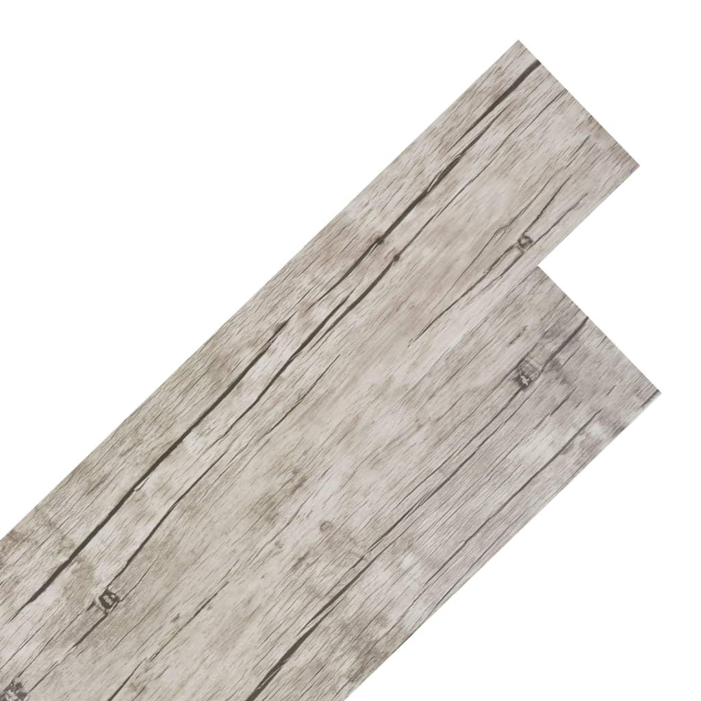 Samolepící podlahová krytina PVC 5,02 m² 2 mm dub bělený