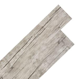 vidaXL Самозалепващи подови дъски от PVC 5,02 м² 2 мм цвят измит дъб