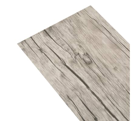 vidaXL Self-adhesive PVC Flooring Planks 54 ft² Oak Washed[3/8]