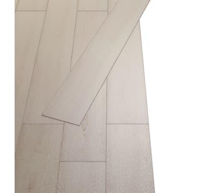 vidaXL Grindų plokštės, PVC, prilipd., 5,02m², 2mm, ąž. balšva spalva[3/8]