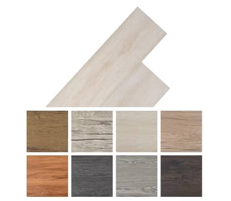 vidaXL Self-adhesive PVC Flooring Planks 54 ft² Oak Classic White[8/8]