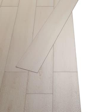 vidaXL Self-adhesive PVC Flooring Planks 54 ft² Oak Classic White[3/8]