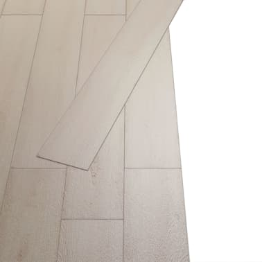 vidaXL Self-adhesive PVC Flooring Planks 54 ft² Oak Classic White[4/8]