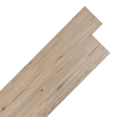 vidaXL PVC grindų plokštės, prilipdomos, 5,02m², 2mm, ąžuolo ruda[1/8]