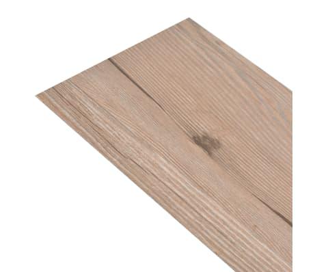 vidaXL PVC grindų plokštės, prilipdomos, 5,02m², 2mm, ąžuolo ruda[2/8]