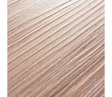 vidaXL PVC grindų plokštės, prilipdomos, 5,02m², 2mm, ąžuolo ruda[6/8]