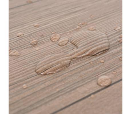 vidaXL PVC grindų plokštės, prilipdomos, 5,02m², 2mm, ąžuolo ruda[7/8]