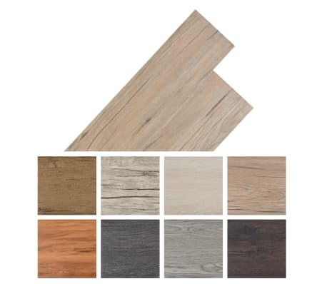 vidaXL PVC grindų plokštės, prilipdomos, 5,02m², 2mm, ąžuolo ruda[8/8]